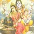 Шива, Парвати и их сын Ганеша